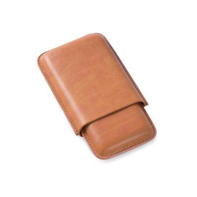 6 in. D x 1 in. H x 3.5 in. W Cedar Cigar Case in Tan