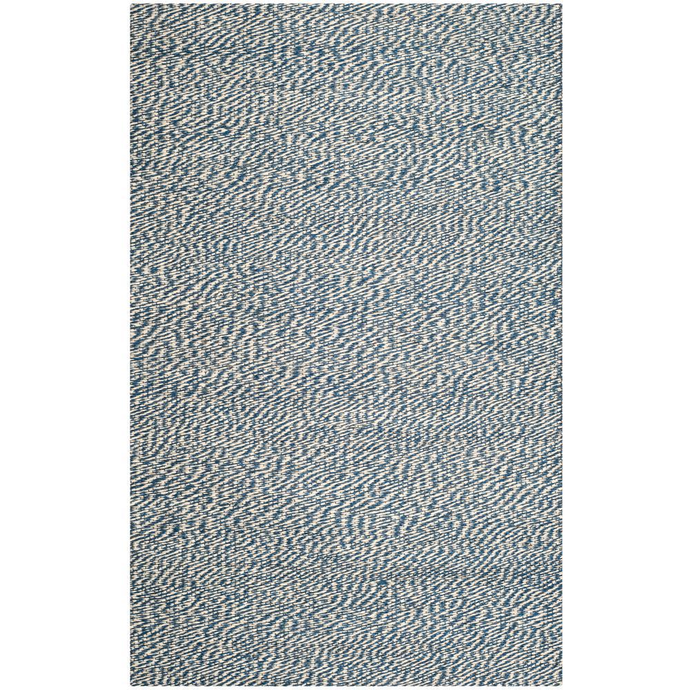 Natural Fiber Blue/Ivory 5 ft. x 8 ft. Area Rug