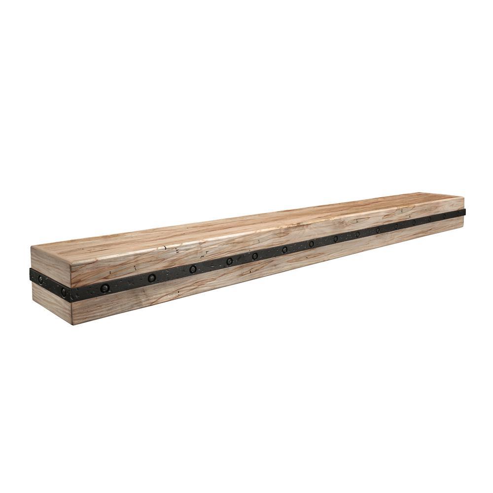 Rustic 4 ft. Cap-Shelf Mantel