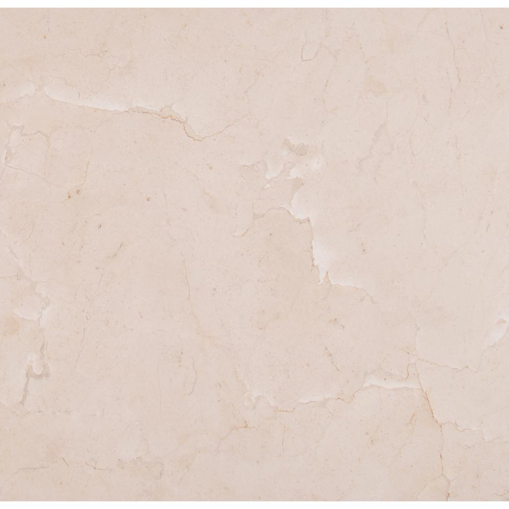 MSI Crema Marfil 18 in. x 18 in. Polished Marble Floor and Wall Tile (9 sq. ft. / case)