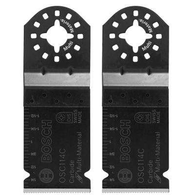 1-1/4 in. Carbide-Tooth Plunge Cut Oscillating Tool Blade for Cutting Wood and Metal (2-Pack)