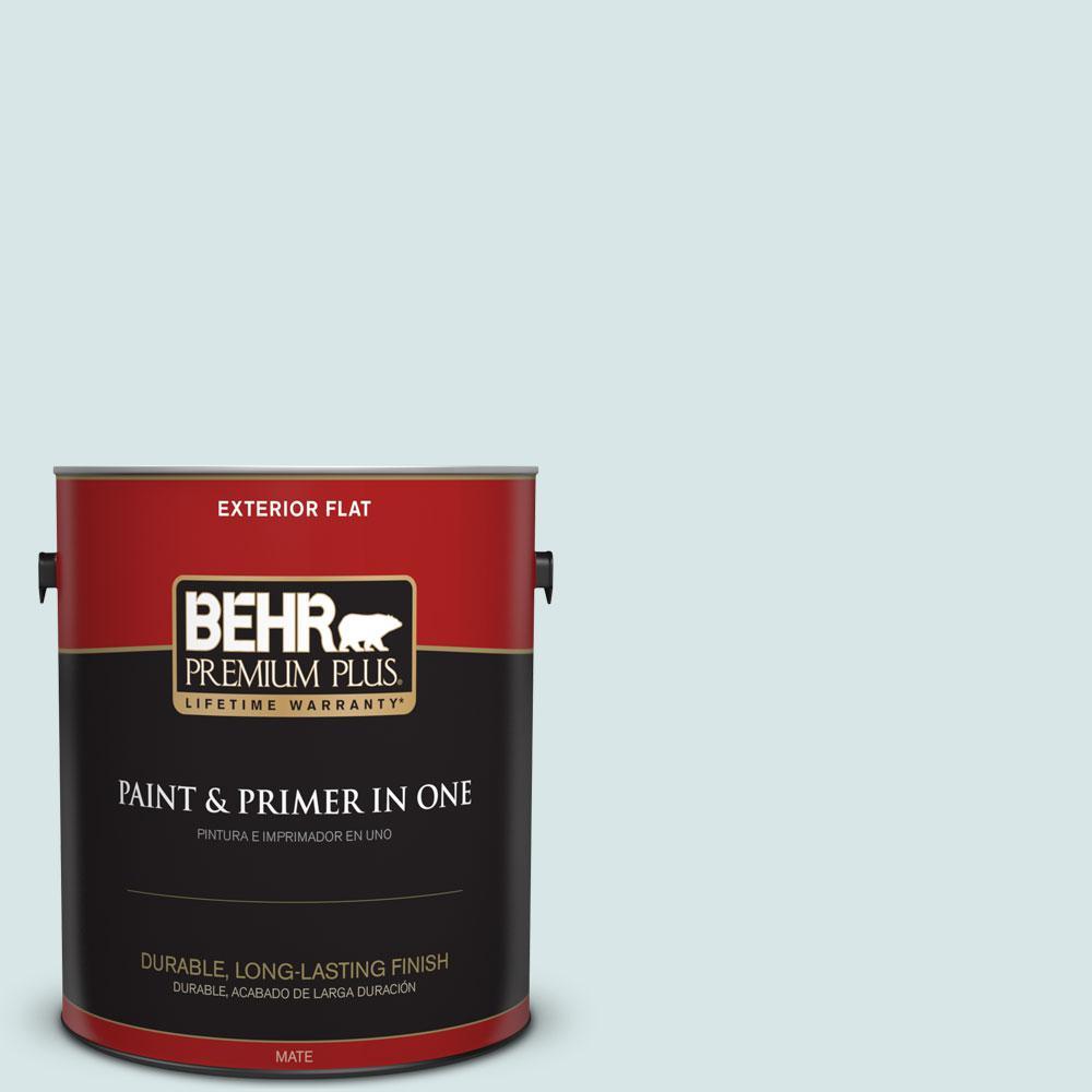 BEHR Premium Plus 1-gal. #500E-2 Aqua Breeze Flat Exterior Paint