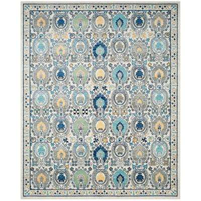 Evoke Ivory/Gray 9 ft. x 12 ft. Area Rug