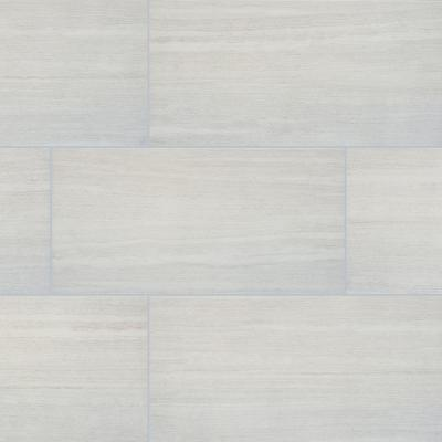 Msi Himalayan Gray 12 In X 24 In Matte Porcelain Floor And Wall Tile 12 Sq Ft Case Nhdhimgra1224 The Home Depot
