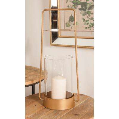 16 in. Gold Candle Lantern
