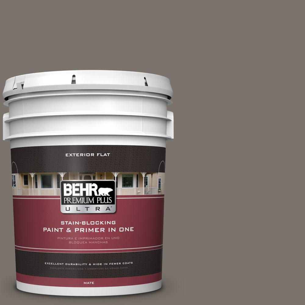5 gal. #MQ2-58 Unpredictable Hue Flat Exterior Paint and Primer in