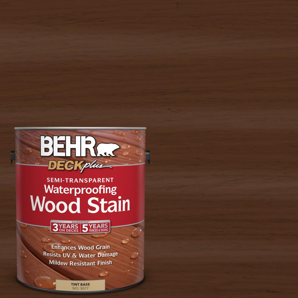 BEHR DECKplus 1 gal. #ST-123 Valise Semi-Transparent Waterproofing Wood Stain