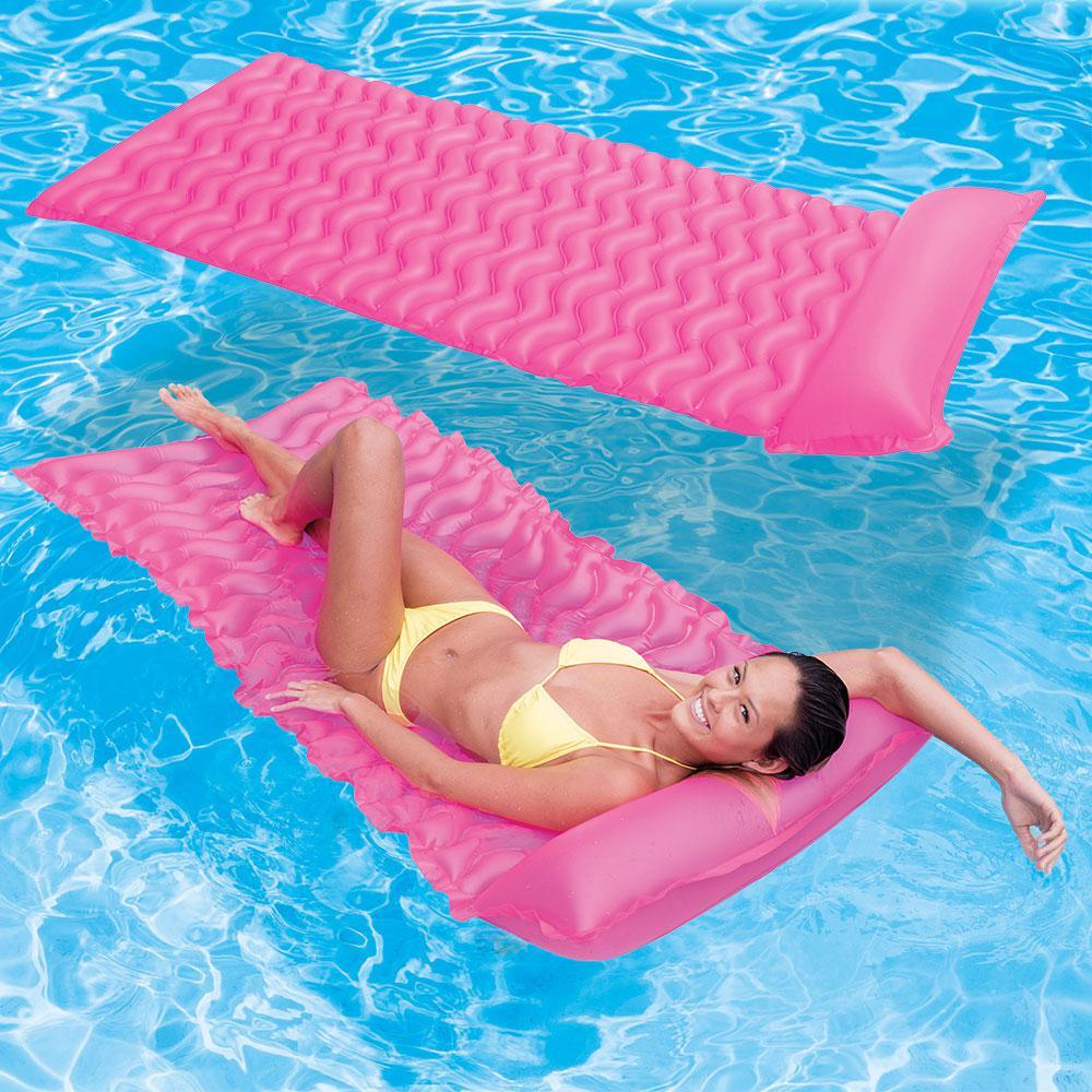 Intex Tote N Float Wave Mats Pink Pool Floats (2-Pack)
