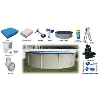24 ft. x 52 in. Round Steel Wall Above Ground Pool Ultimate Package