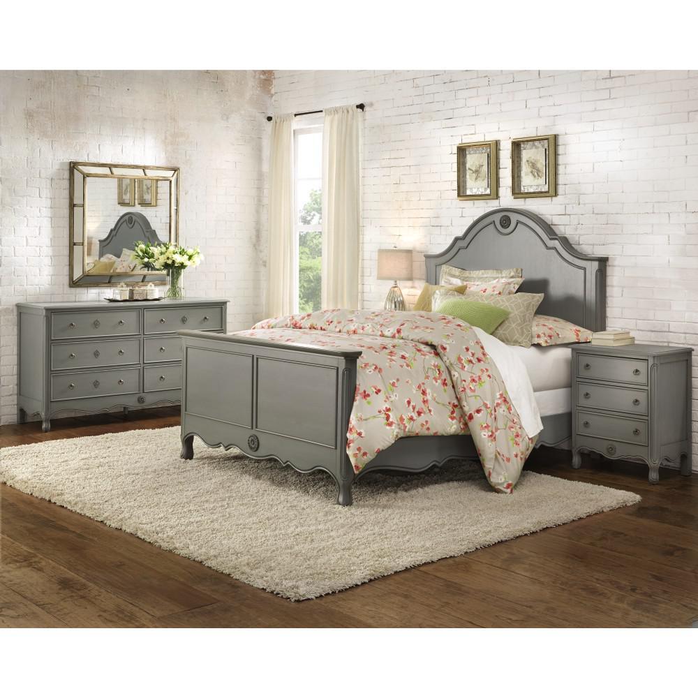 Keys Grey King Bed