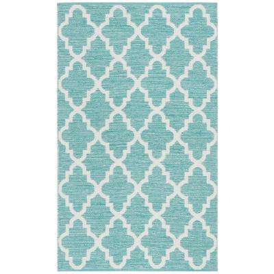 Montauk Teal/Ivory 3 ft. x 5 ft. Area Rug