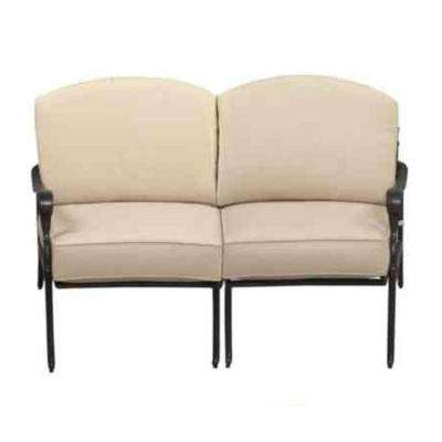 Edington Aluminium Outdoor Loveseat Sectional with Cushions Included, Choose Your Own Color