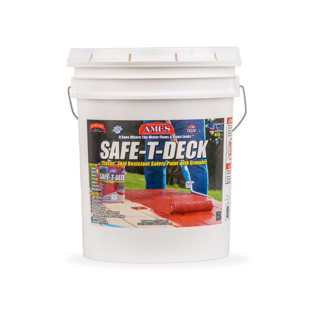 Safe-T-Deck 5 gal. Brown Slip Resistant Waterproof Deck Coating