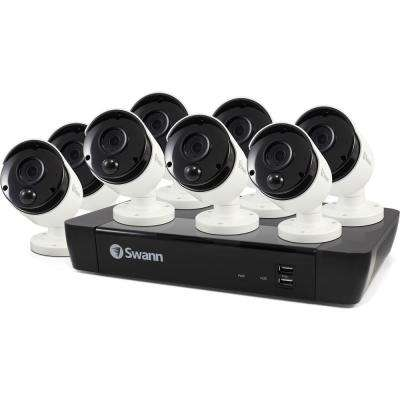 8-Channel 8MP 4K 2TB NVR Surveillance System with 8x PIR Wired Bullet Cameras