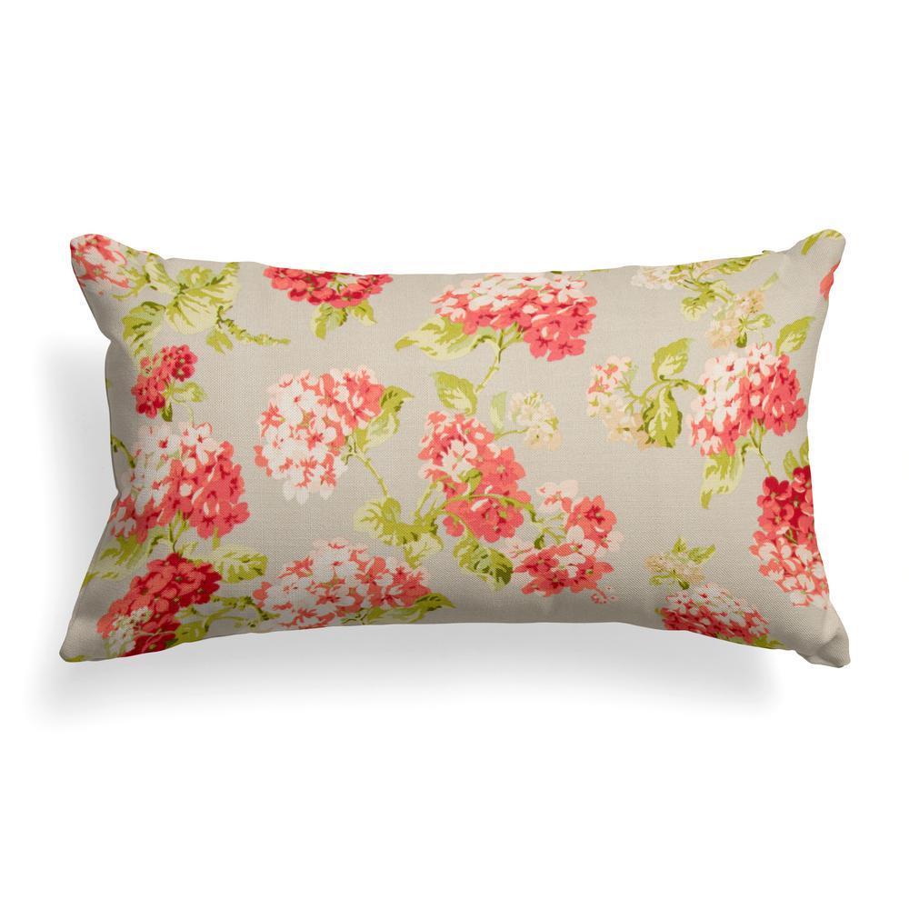 Summer Garden Rectangular Lumbar Outdoor Pillow