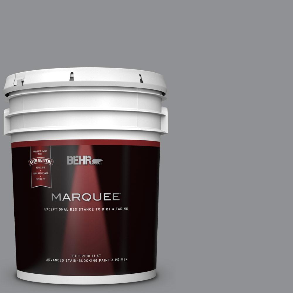 Behr marquee 5 gal n520 4 cool ashes flat exterior paint - Exterior primer and paint in one ...