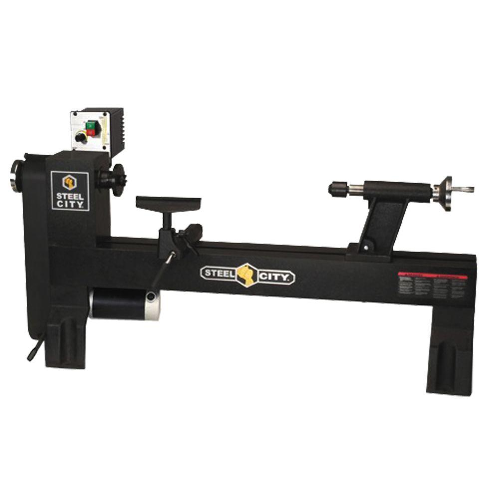 Steel City 12 in. x 27 in. Granite Variable Speed Midi-Lathe