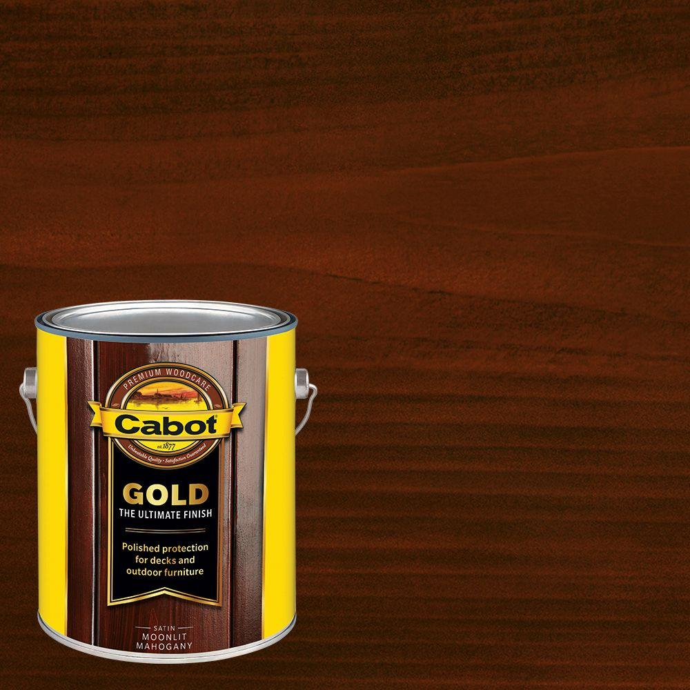 Cabot 1 Gal Moonlit Mahogany Gold Oil Exterior Deck Varnish Voc Compliant