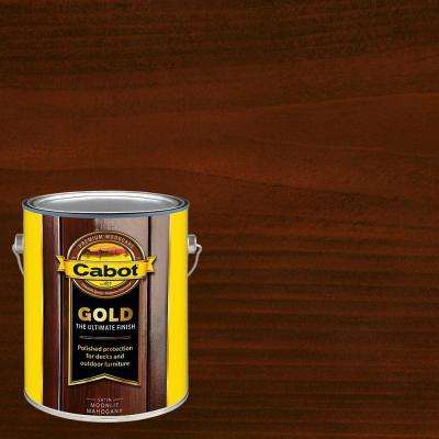 1 gal. Moonlit Mahogany Gold Oil Exterior Deck Varnish, VOC Compliant