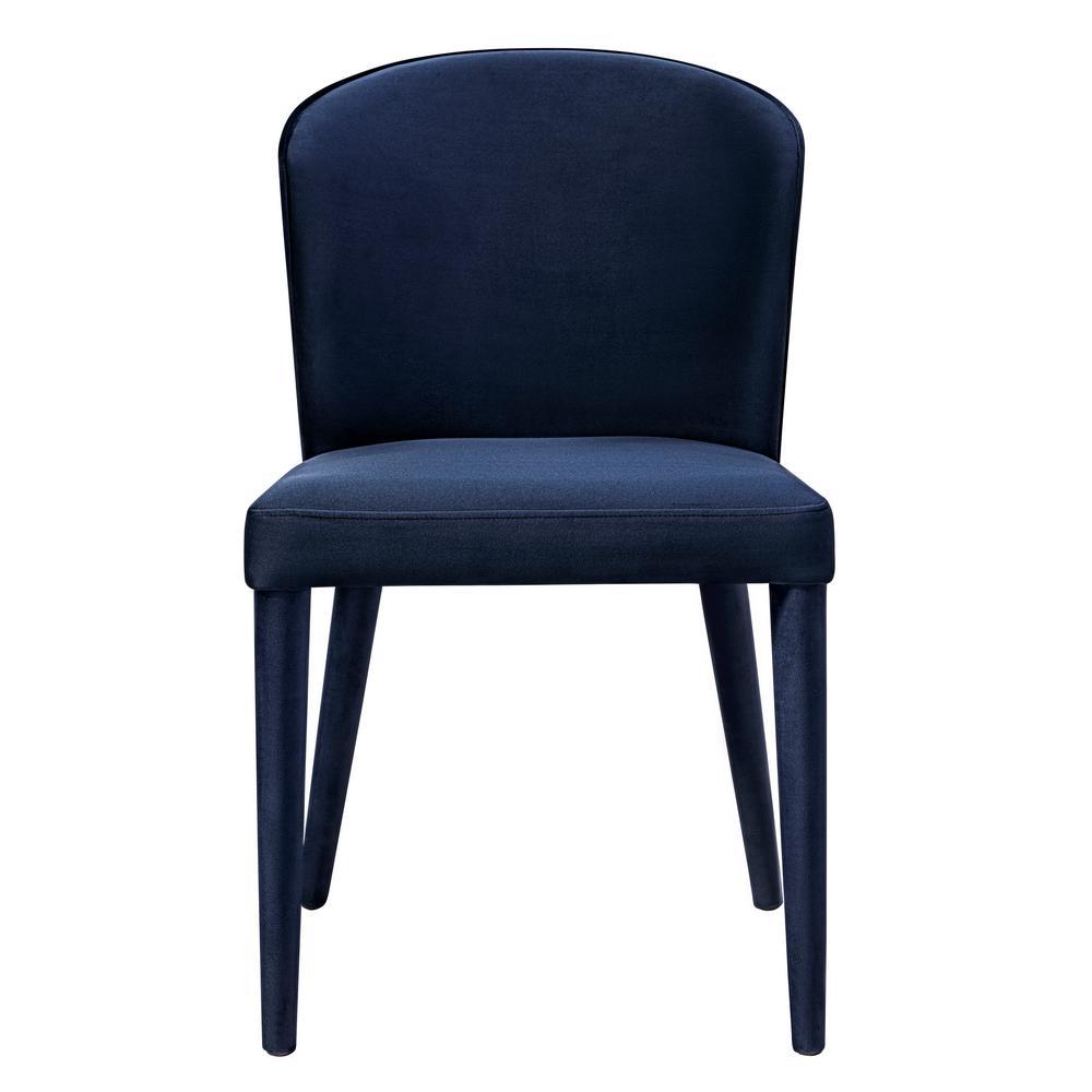TOV Furniture Metropolitan Navy Velvet Chair