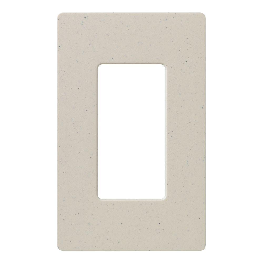 Claro 1 Gang Decorator Wallplate, Limestone