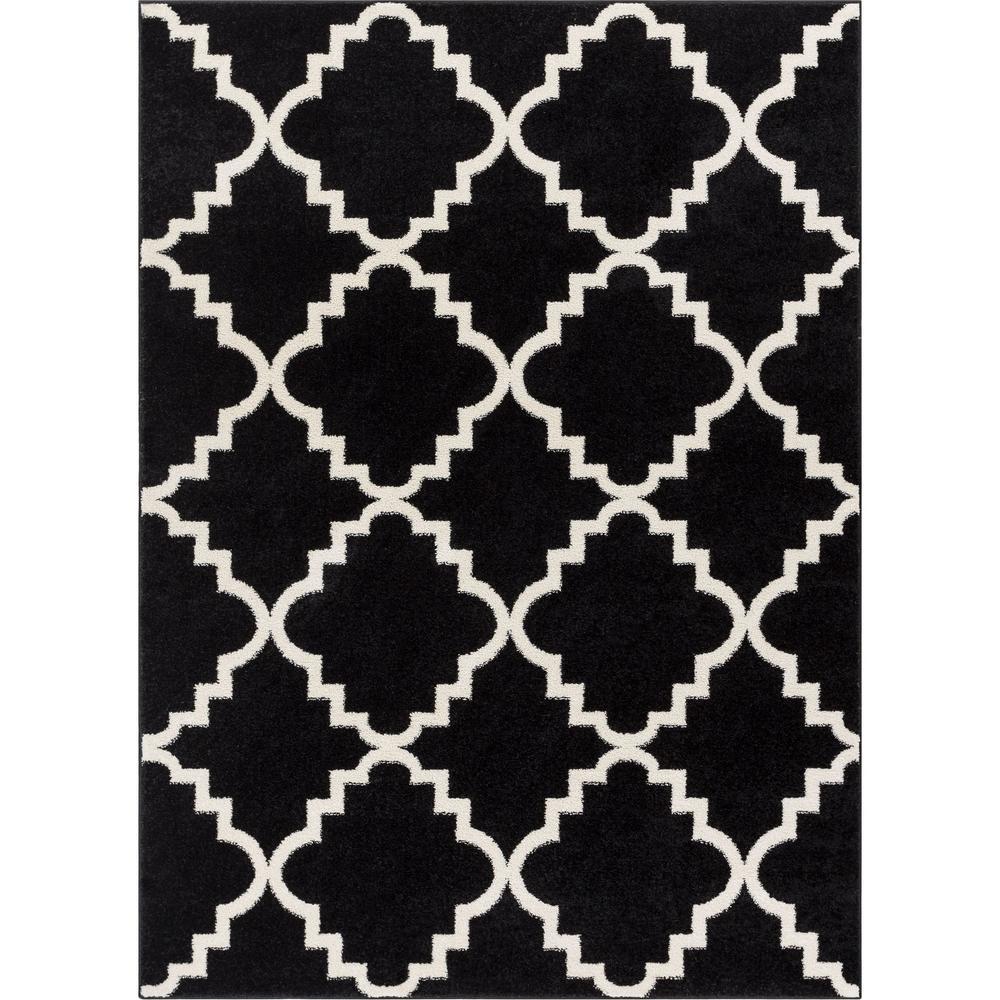Well woven sydney lulus lattice trellis black 8 ft x 11 ft modern area