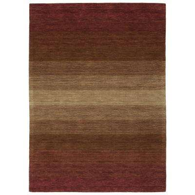 Shades Wine 10 ft. x 13 ft. Area Rug