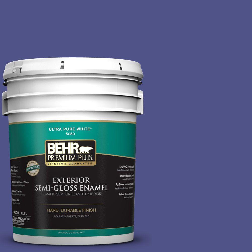 5-gal. #P550-7 Purple Prince Semi-Gloss Enamel Exterior Paint