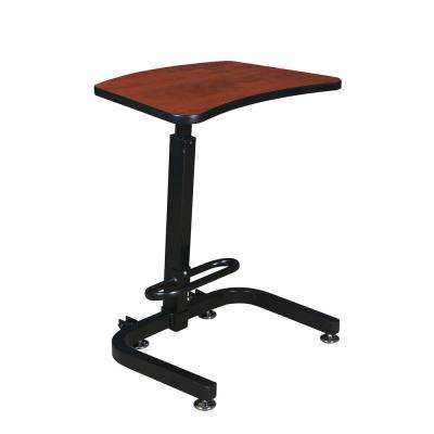 Brody Cherry Sit-Stand Desk with One-Touch Height Adjustment