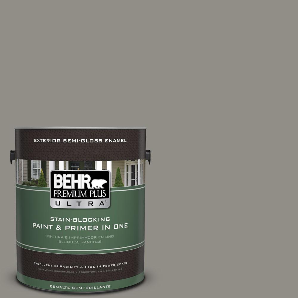 BEHR Premium Plus Ultra 1-gal. #T13-17 Timber Town Semi-Gloss Enamel Exterior Paint