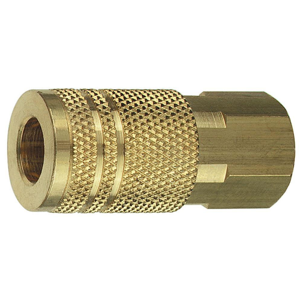 1/4 in. FNPT x 1/4 in. I/M Brass Coupler