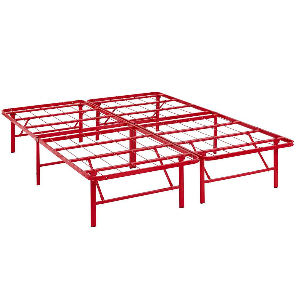 MODWAY Horizon Red Full Stainless Steel Bed Frame-MOD-5428-RED - The ...