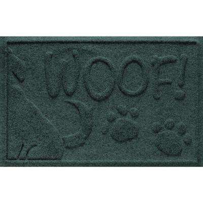 Evergreen 18 in. x 28 in. Wag the Dog Polypropylene Pet Mat