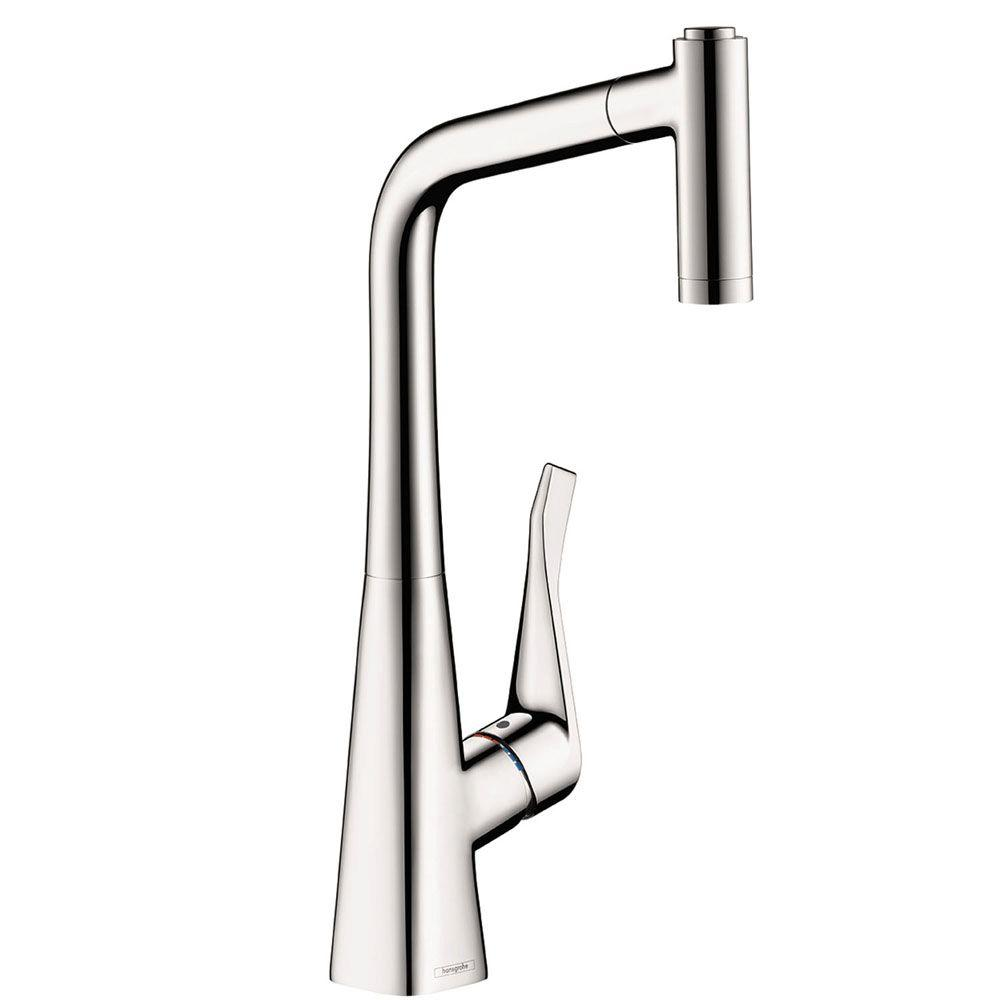 grohe minta single handle pull out sprayer kitchen faucet in starlight chrome 32 319 000 the. Black Bedroom Furniture Sets. Home Design Ideas