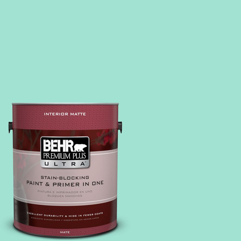 1 gal. #P430-2 Aqua Wish Matte Interior Paint