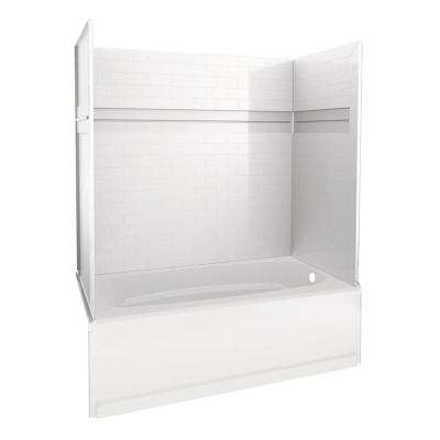 Acrylic Tub Shower Units. Bath and Shower Kit Acrylic  Bathtub Combos Bathtubs The Home Depot