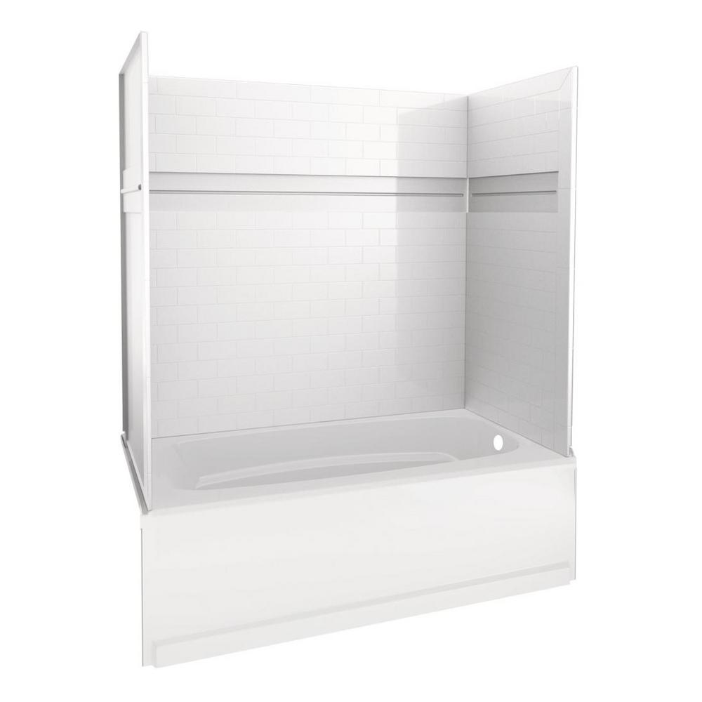 Delta UPstile 32 in. x 60 in. x 60 in. Bath and Shower Kit with Classic 400 Right-Hand Drain in White