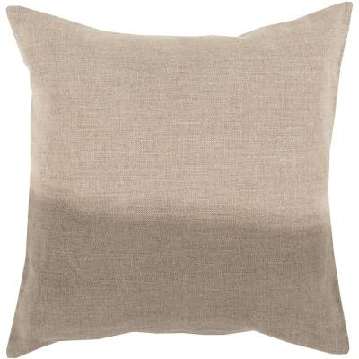 Roxbury Taupe Striped Polyester 18 in. x 18 in. Throw Pillow