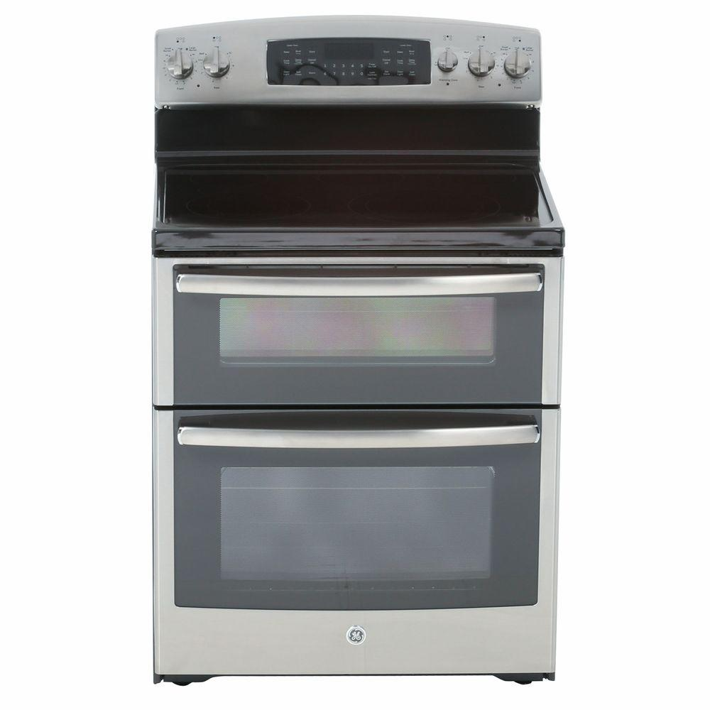 GE 6.6 cu. ft. Double Oven Electric Range with Self-Cleaning Oven in Stainless Steel