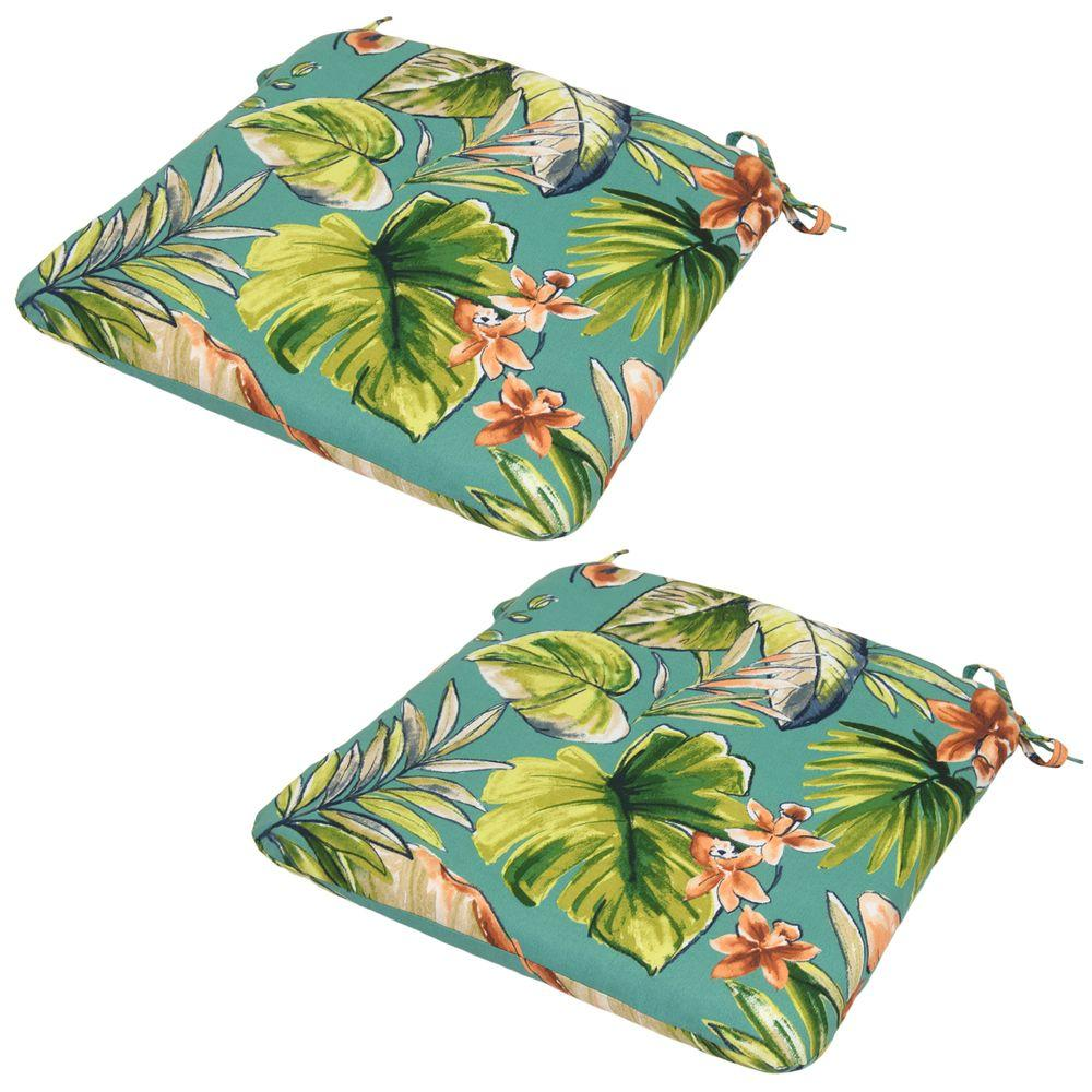 Fantastic Orchid Outdoor Seat Cushion (2-Pack)