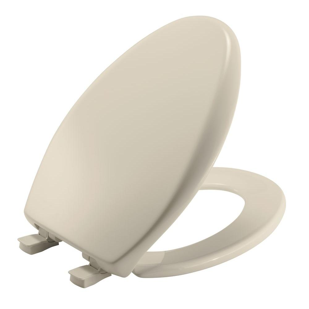 Affinity Elongated Closed Front Toilet Seat in Almond