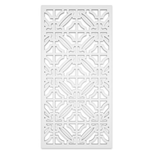 Imperial 2 ft. x 4 ft. White Vinyl Decorative Screen Panel (Pack of 2)