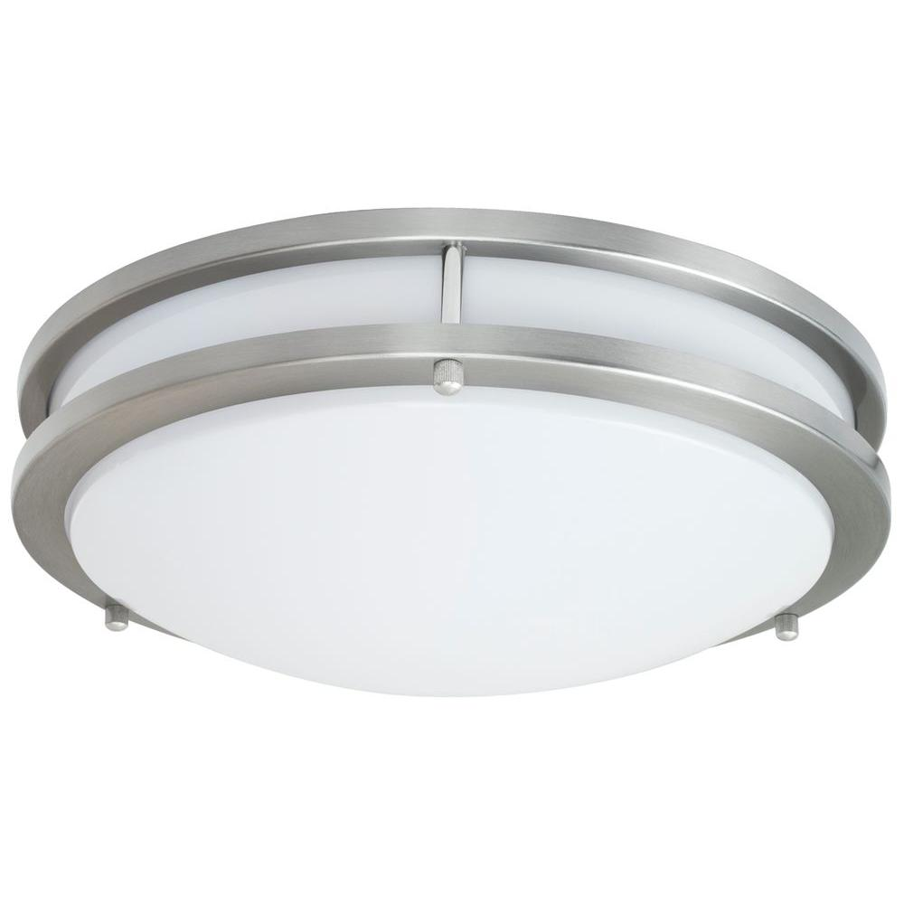 JR Brushed Nickel Indoor LED Flush Mount