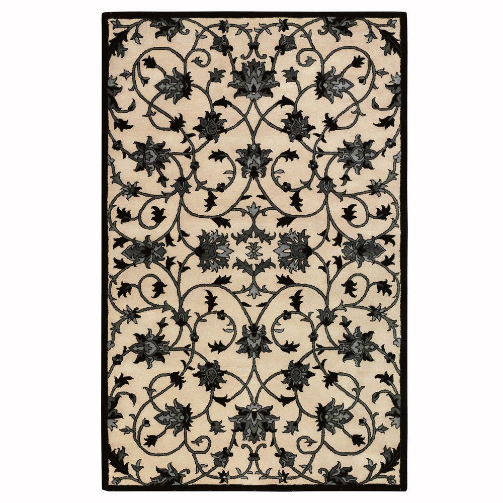 Home Decorators Collection Paloma Beige/Black 9 ft. x 13 ft. Area Rug
