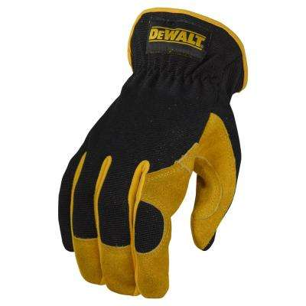 Large Black Leather Performance Hybrid Glove