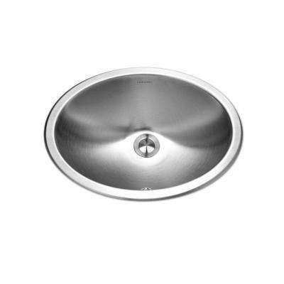 Opus Series Top Mount Stainless Steel 13.6 in. Single Bowl Lavatory Sink with Overflow
