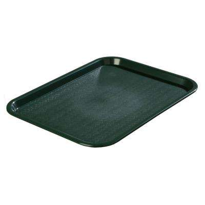 14 in. x 18 in. Polypropylene Tray in Forest Green (Case of 12)
