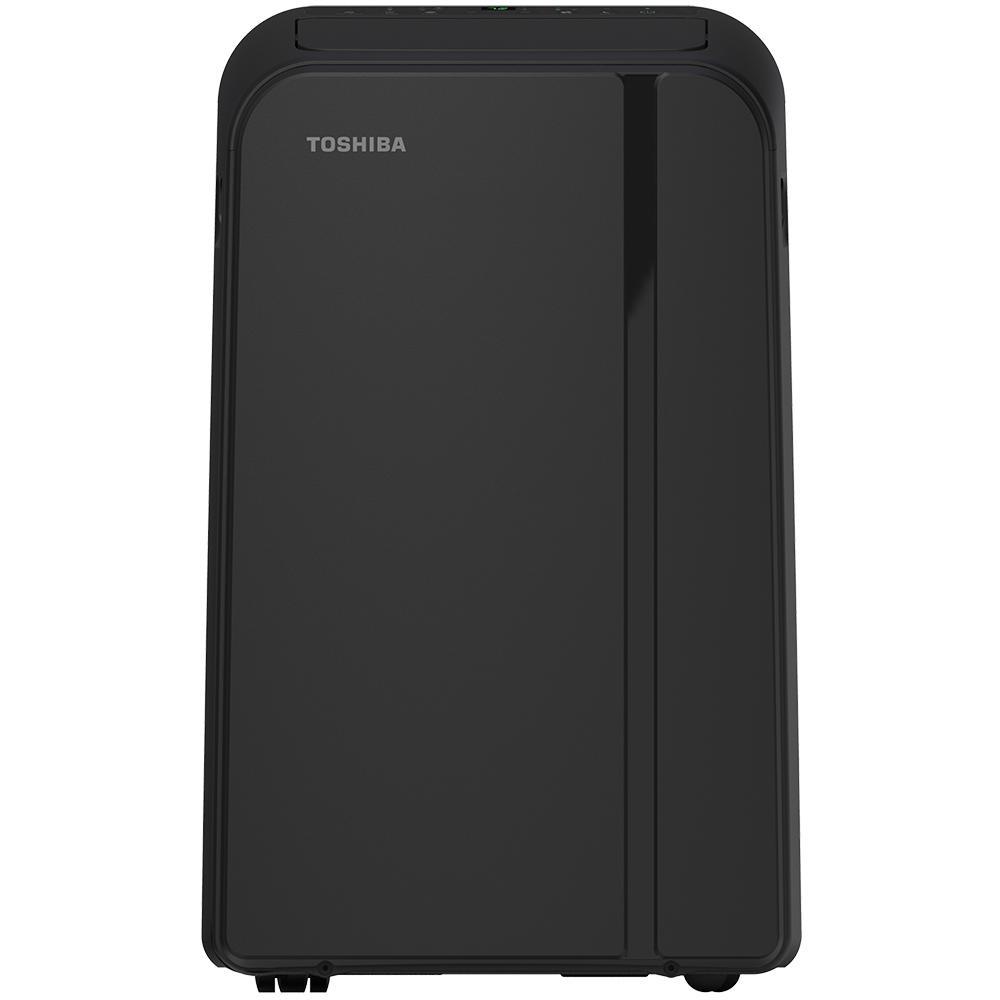 Toshiba 14,000 BTU (10,000 BTU, DOE) 115-Volt Portable AC with Heat, Dehumidifier Function and Remote Control in Black