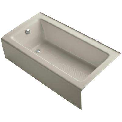 Bellwether 5 ft. Rectangle Left Drain Soaking Tub in Sandbar
