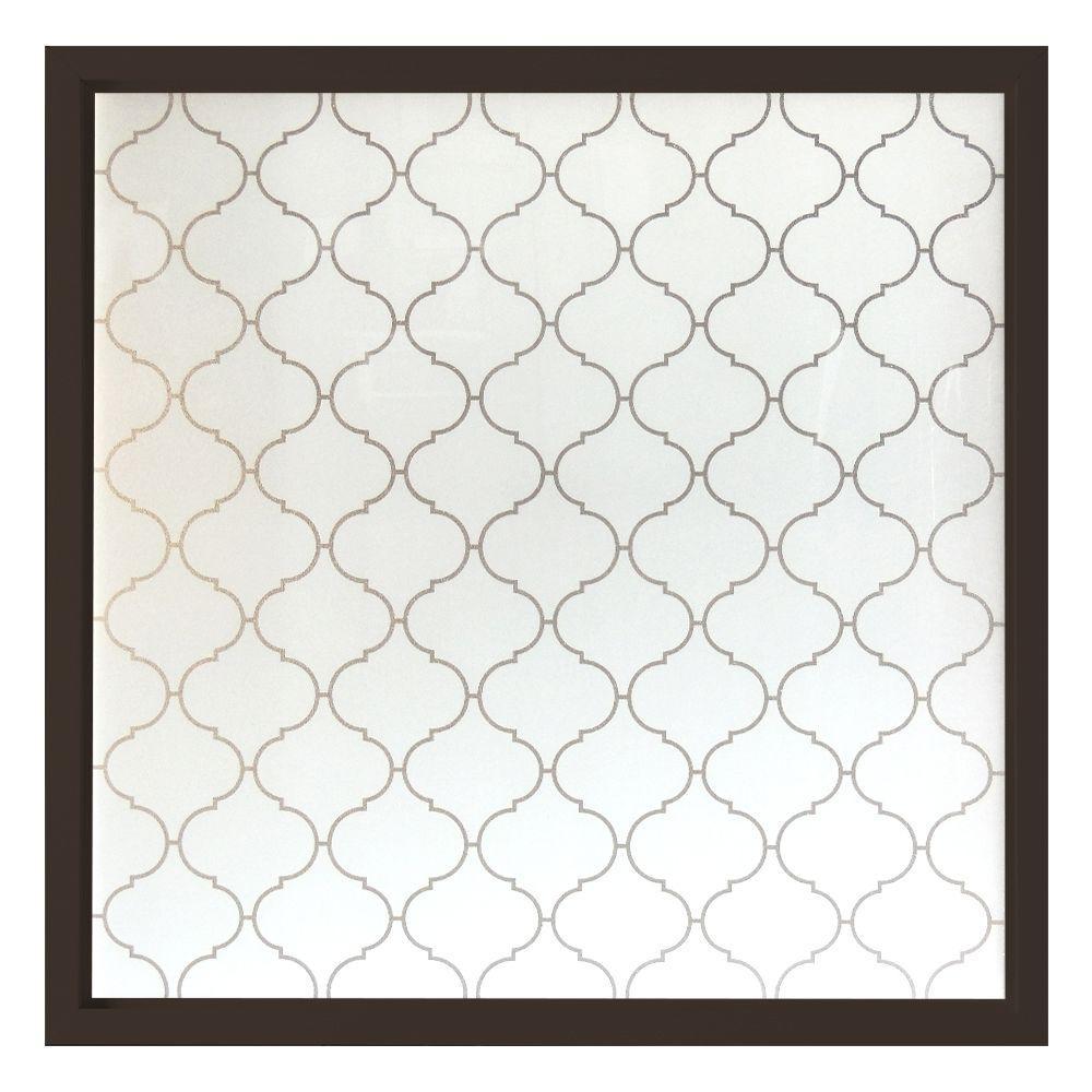 47.5 in. x 47.5 in. Baroque Decorative Glass Picture Vinyl Window - Bronze